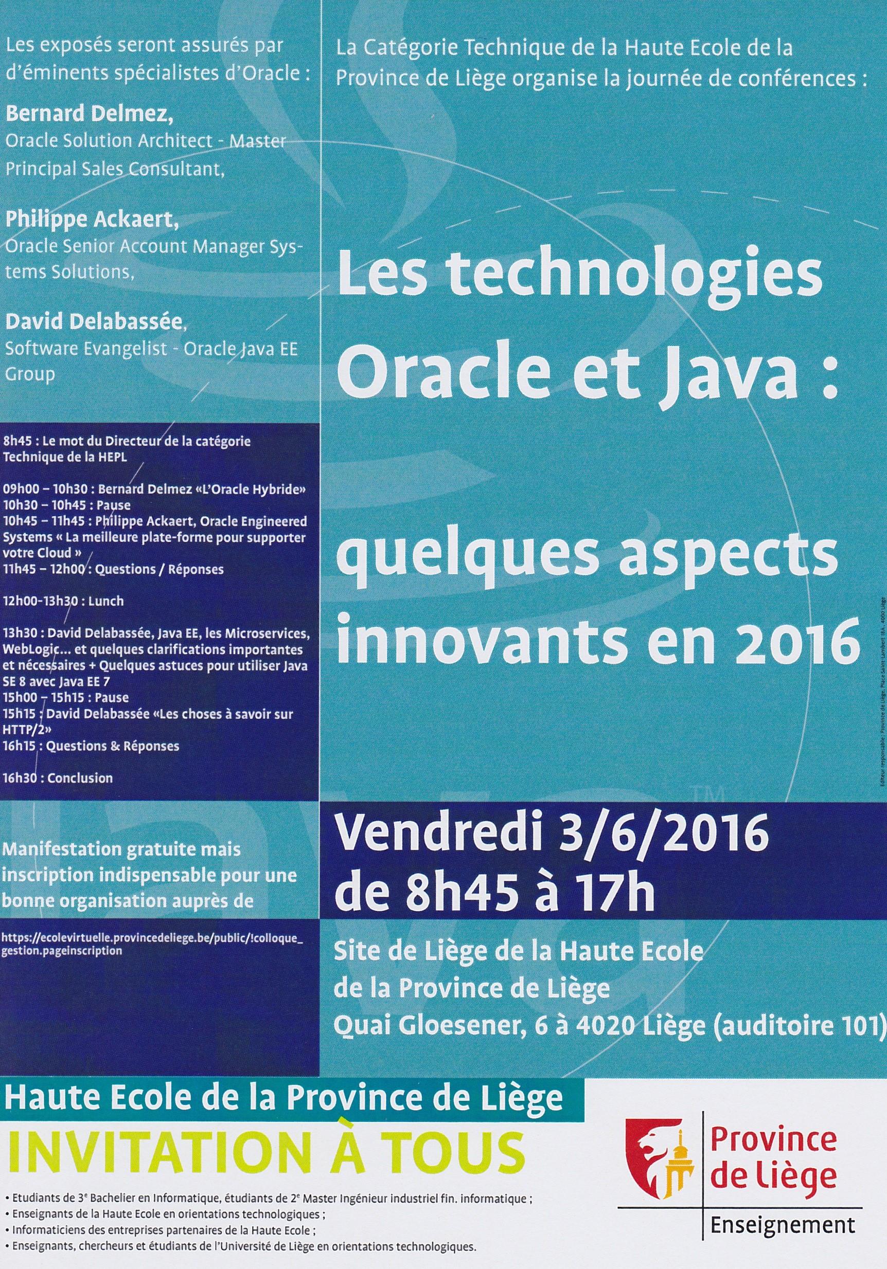Colloque Oracle et Java